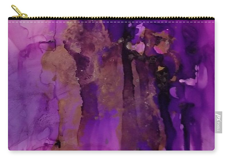 Art Carry-all Pouch featuring the painting Tear In My heart by Paulina Roybal