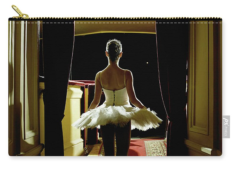 People Carry-all Pouch featuring the photograph Teenage Ballerina 14-15 Waiting In by Hans Neleman