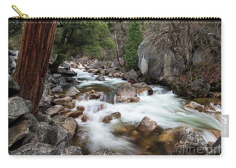 Tenaya Creek Carry-all Pouch featuring the photograph Tenaya Creek, Yosemite National Park by Yefim Bam