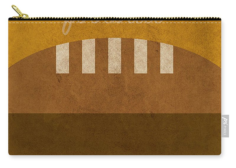 Tennessee Carry-all Pouch featuring the mixed media Tennessee Football Minimalist Retro Sports Poster Series 004 by Design Turnpike