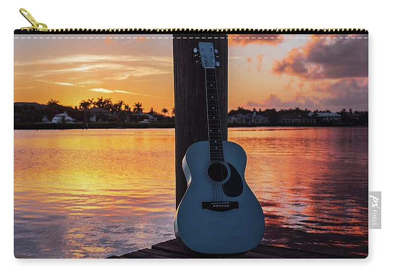 Music Carry-all Pouch featuring the photograph Tequila Sunrise by Laura Fasulo
