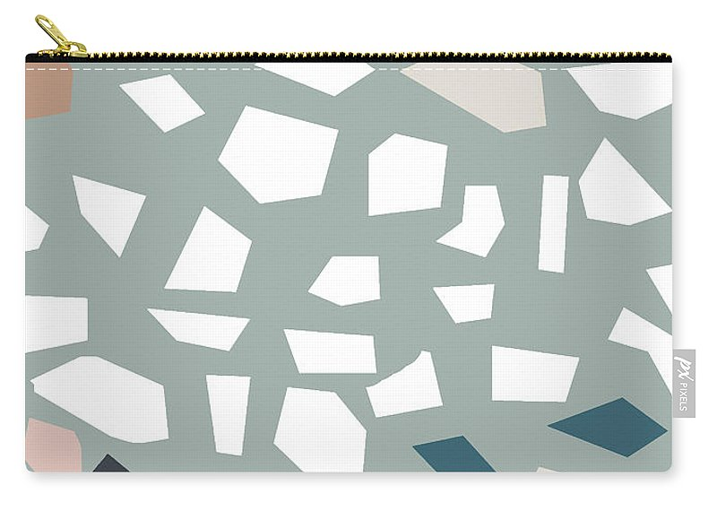 Terrazzo Carry-all Pouch featuring the digital art Terrazzo 1- Art By Linda Woods by Linda Woods