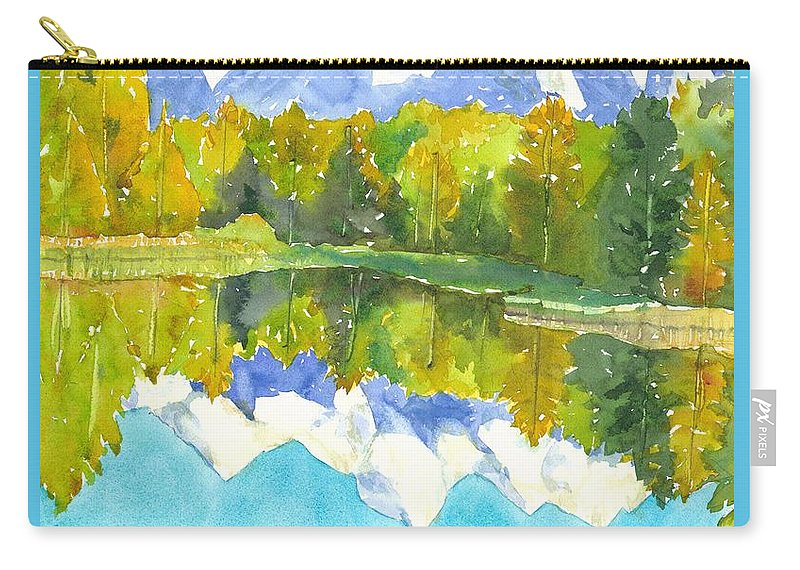 National Parks Carry-all Pouch featuring the painting Teton Impressions by Yolanda Koh