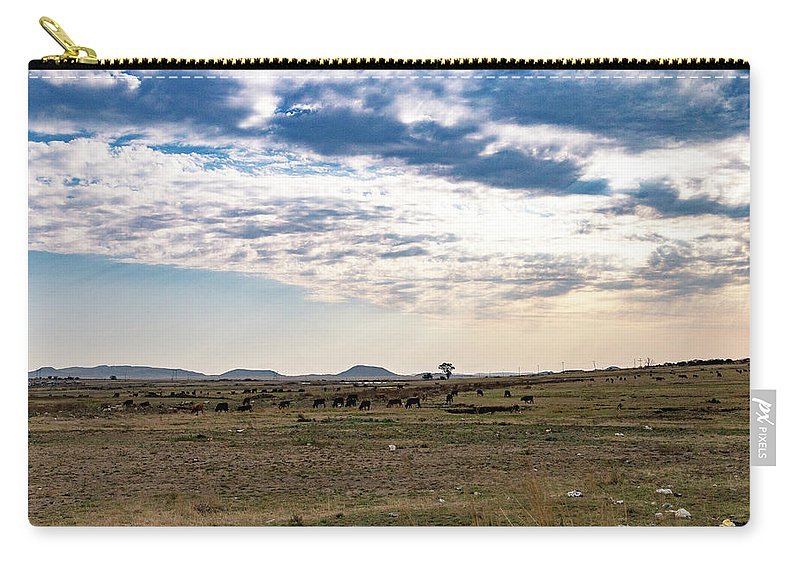 Thaba Nchu Carry-all Pouch featuring the photograph Thaba Nchu Landscape by Pieter Bruwer