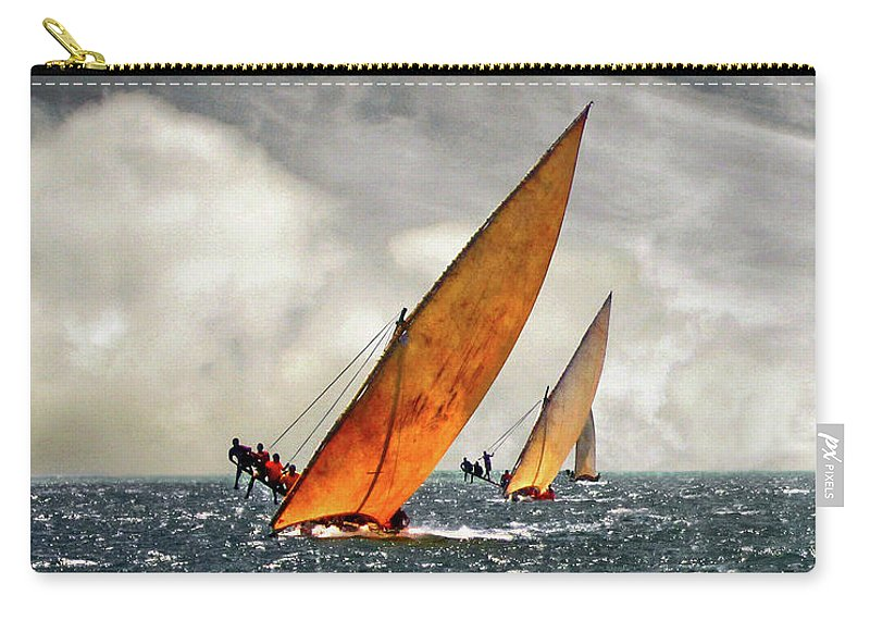 Kenya Carry-all Pouch featuring the photograph The Art Of Swahili Dhow Racing by David Schweitzer