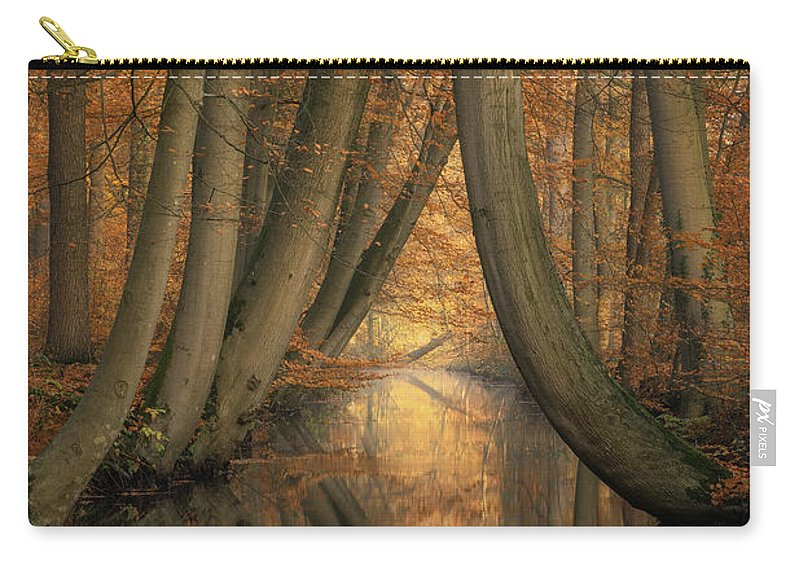 Trees Carry-all Pouch featuring the photograph The Bent Ones by Martin Podt