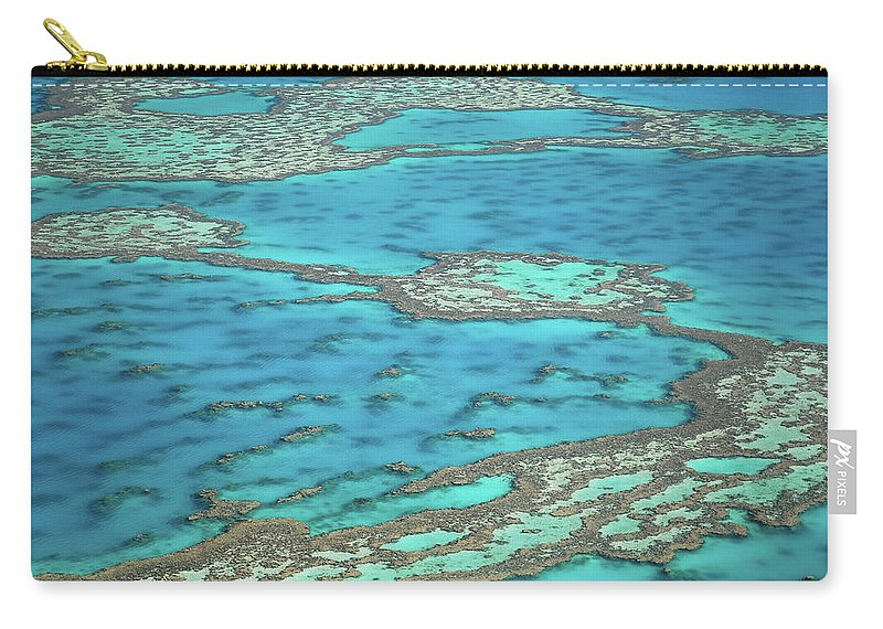 Scenics Carry-all Pouch featuring the photograph The Big Reef, Whitsunday Islands by Chantal Ferraro