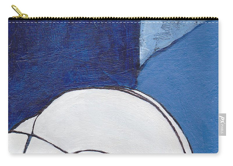 Blue Carry-all Pouch featuring the painting The Blues by Patricia Cleasby