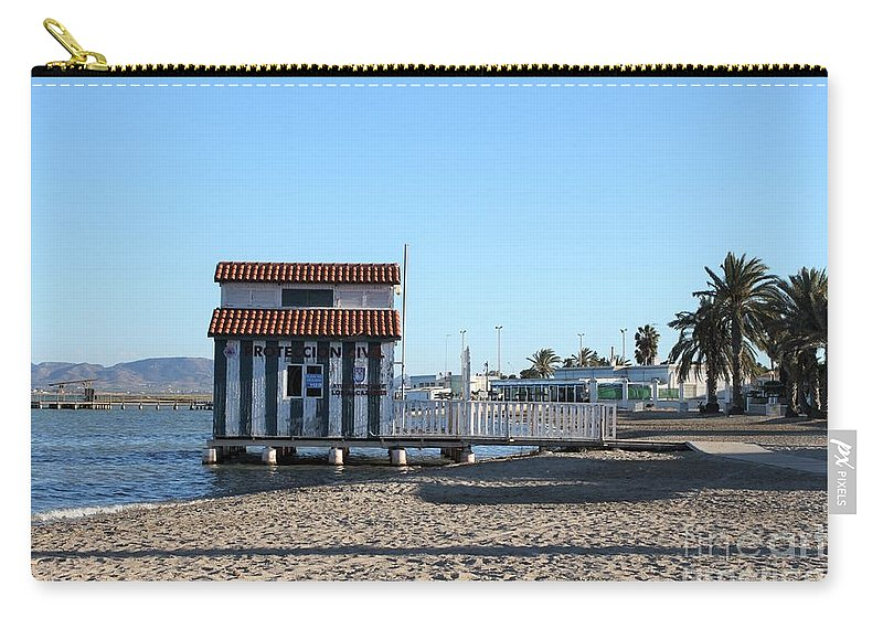 Sea Carry-all Pouch featuring the photograph The Boat House by Linda Prewer