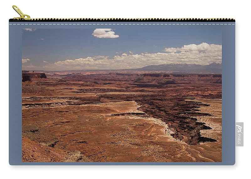 Canyonlands National Park Carry-all Pouch featuring the photograph The Canyon Floor Below - 1 by Hany J