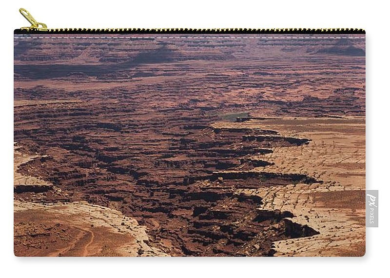 Canyonlands National Park Carry-all Pouch featuring the photograph The Canyon Floor Below - 2 by Hany J