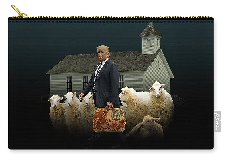Billionaire Carry-all Pouch featuring the digital art The Carpetbagger by M Spadecaller