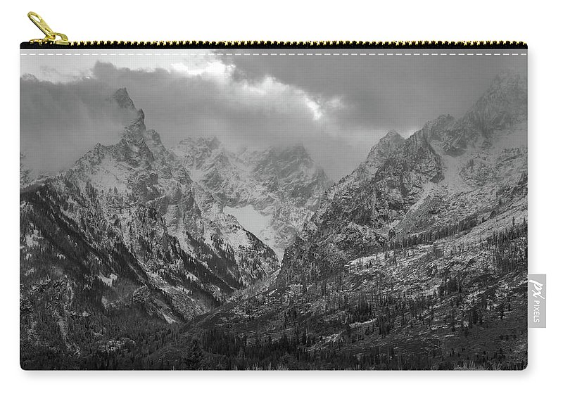 Grand Teton National Park Carry-all Pouch featuring the photograph The Cathedral Group by Catherine Avilez