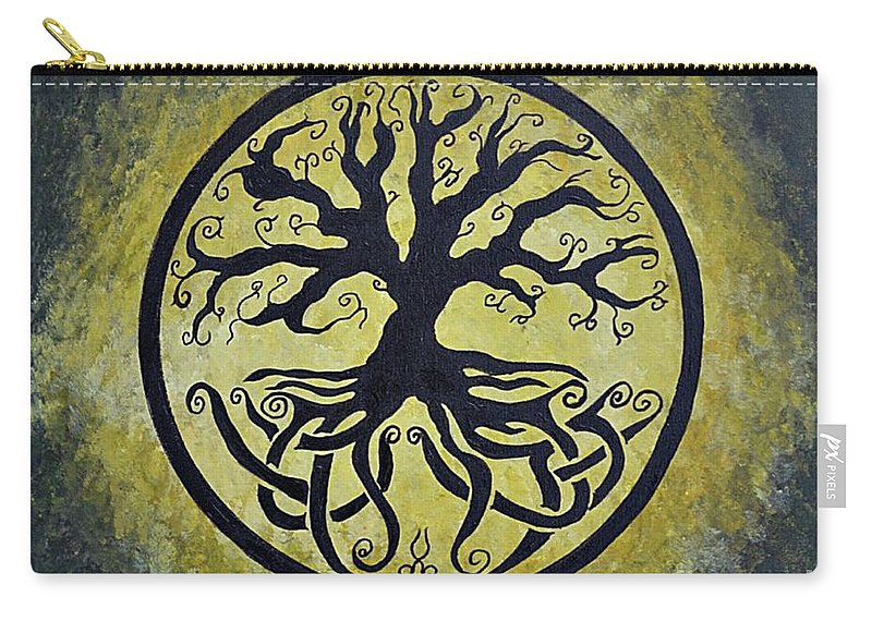 Tree Of Life Carry-all Pouch featuring the painting The Circle Of Life by Herschel Fall