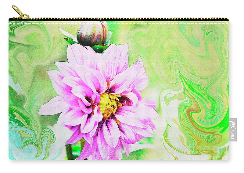 Dahlia Carry-all Pouch featuring the photograph The Dahlia by Debby Pueschel