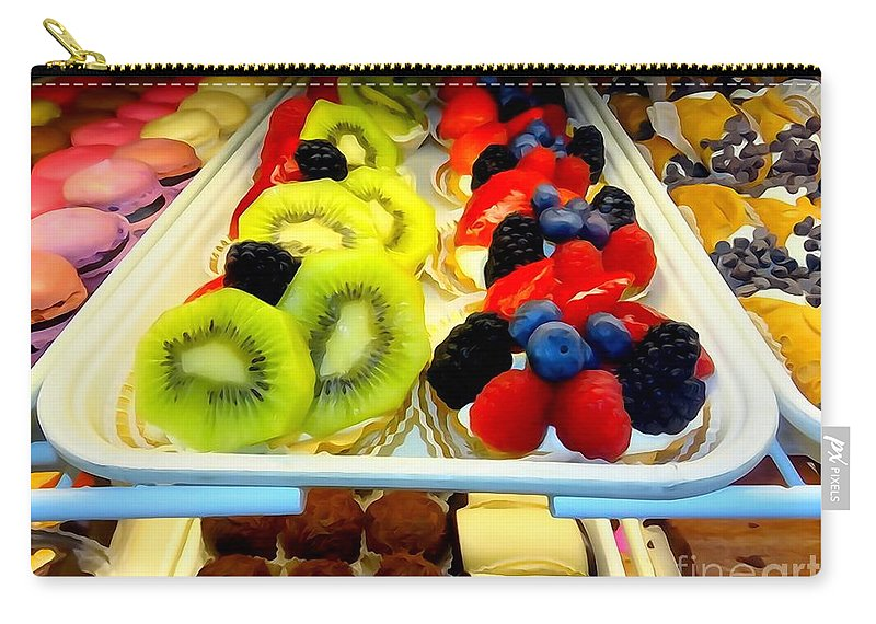 Desserts Carry-all Pouch featuring the digital art The Dessert Trays by Ed Weidman