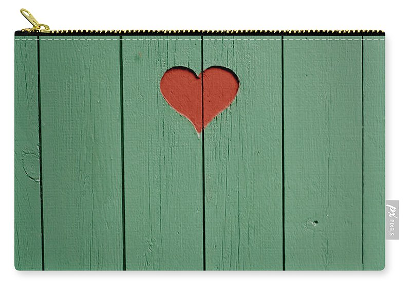 Outhouse Carry-all Pouch featuring the photograph The Door To A Outhouse by Fredrik Nyman