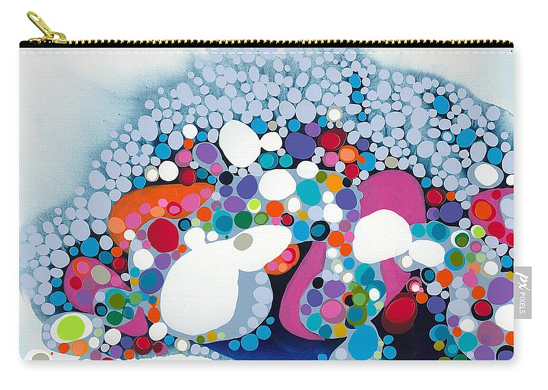 Abstract Carry-all Pouch featuring the painting The Fantasy Of Reality by Claire Desjardins