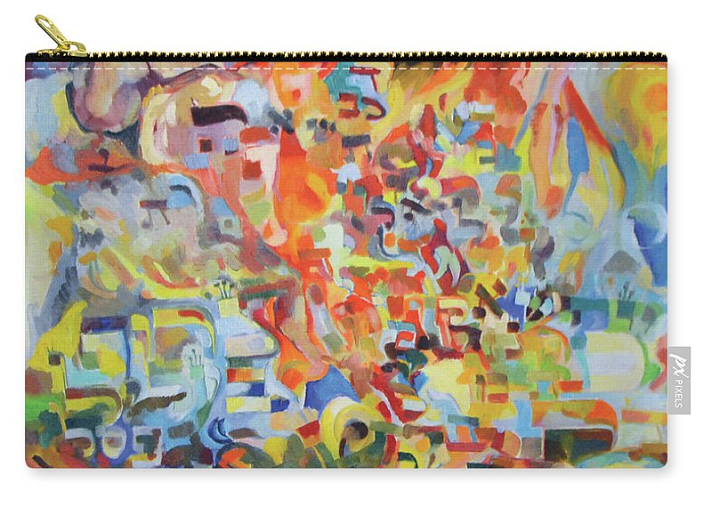 Carry-all Pouch featuring the painting The Giving Of The Torah by David Baruch Wolk