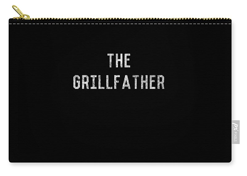 Vintage Carry-all Pouch featuring the digital art The Grillfather Vintage by Flippin Sweet Gear