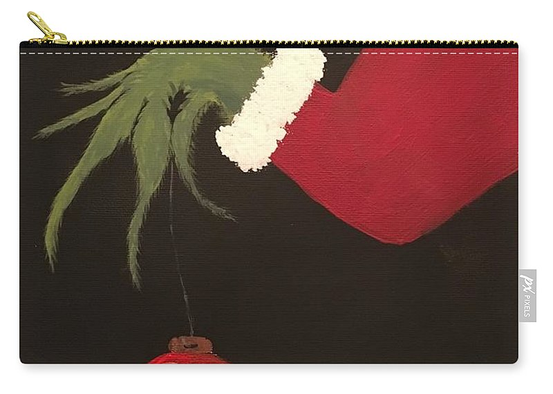 Carry-all Pouch featuring the painting The Grinch by Rosemary Burton