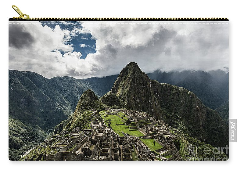 Scenics Carry-all Pouch featuring the photograph The Inca Trail, Machu Picchu, Peru by Kevin Huang