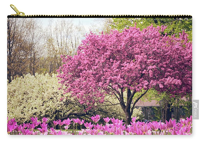 Spring Carry-all Pouch featuring the photograph The Joy Of Tulips by Jessica Jenney