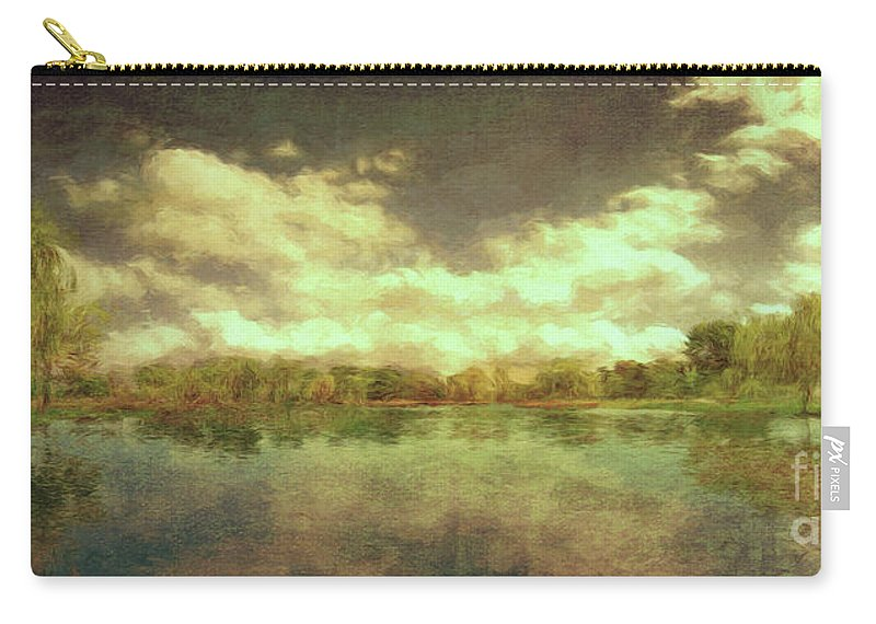 Scenic Carry-all Pouch featuring the photograph The Lake - Panorama by Leigh Kemp