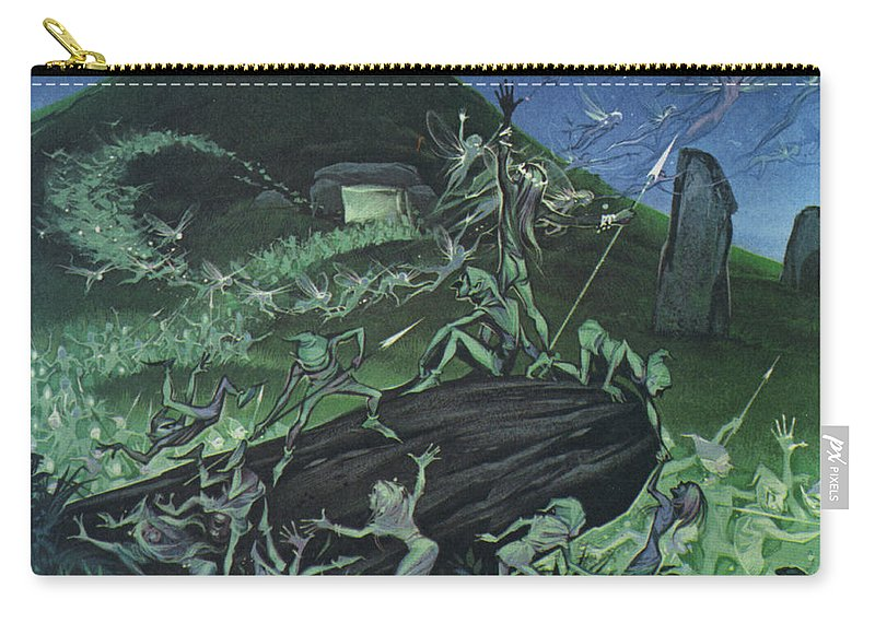 Elves Carry-all Pouch featuring the painting The Little People by Angus McBride