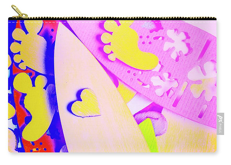 Surfer Carry-all Pouch featuring the photograph The Love Wave by Jorgo Photography - Wall Art Gallery
