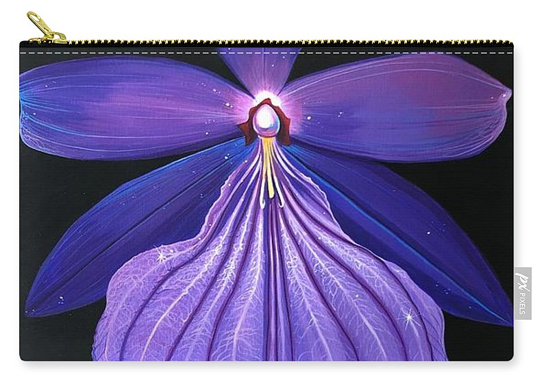 Orchid Carry-all Pouch featuring the painting The Mystic by Hunter Jay