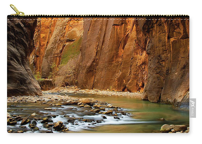 Zion Narrows Carry-all Pouch featuring the photograph The Narrows by Beklaus