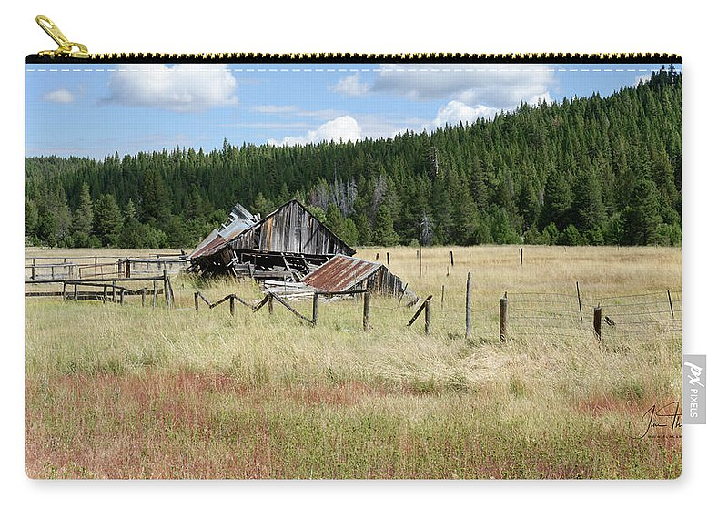 Landscapes Carry-all Pouch featuring the photograph The Old Barn by Jim Thompson