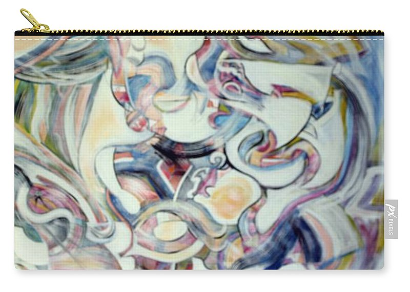 Abstract Carry-all Pouch featuring the painting The Perfect Storm by Robert Wade