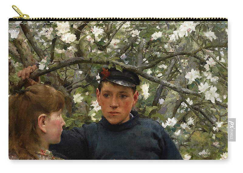 The Promise Carry-all Pouch featuring the painting The Promise, 1888 by Henry Scott Tuke