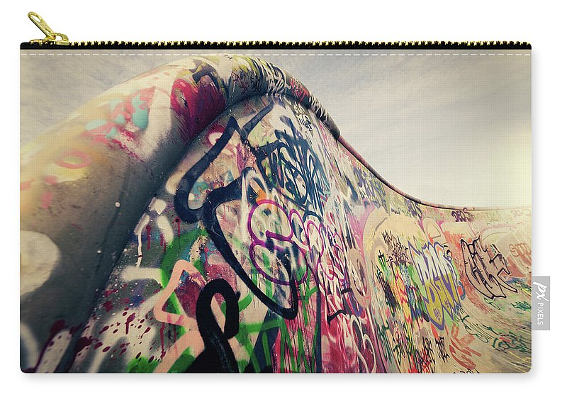 Orange Color Carry-all Pouch featuring the photograph The Ramp by Ppampicture
