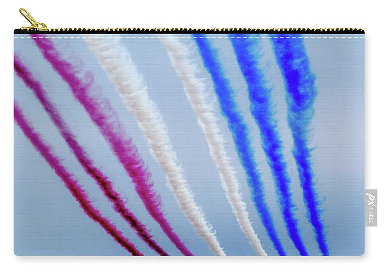 Carry-all Pouch featuring the photograph The Red Arrows. by Angela Aird