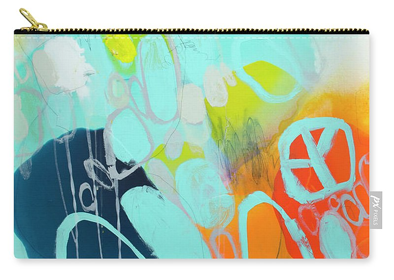 Abstract Carry-all Pouch featuring the painting The Right Thing by Claire Desjardins