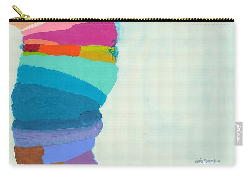 Abstract Carry-all Pouch featuring the painting The Right Timing by Claire Desjardins