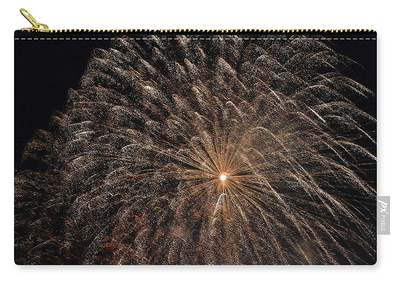 2018 Fourth Of July Carry-all Pouch featuring the photograph The Saint Louis Missouri 4 Of July Fireworks by Carol Jackson