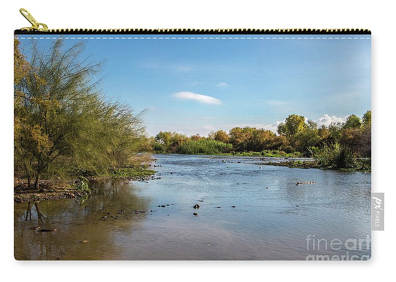 Arizona Carry-all Pouch featuring the photograph The Salt at Three Rivers by Kathy McClure