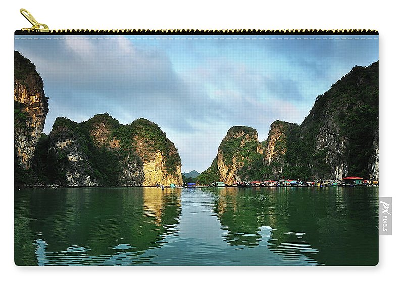 Scenics Carry-all Pouch featuring the photograph The Scenic Of Halong Bay by Photo By Sayid Budhi