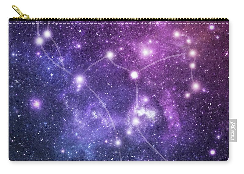 Black Color Carry-all Pouch featuring the photograph The Stars Constellation Of Orion by Sololos