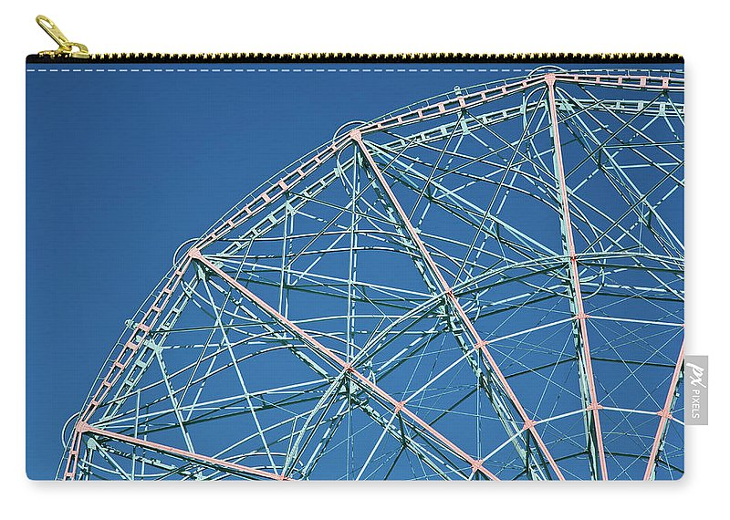 Built Structure Carry-all Pouch featuring the photograph The Top Of A Ferris Wheel, Low Angle by Frederick Bass