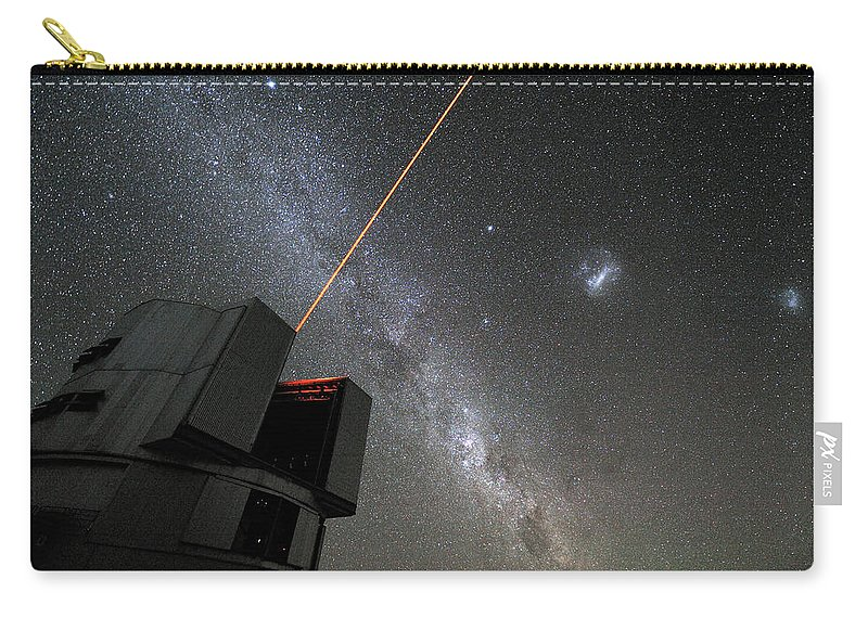 The Vlts Laser Guide Star Carry-all Pouch featuring the photograph The Vlts Laser Guide Star by New Digital Museum