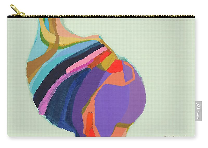 Abstract Carry-all Pouch featuring the photograph The Waiting Game by Claire Desjardins