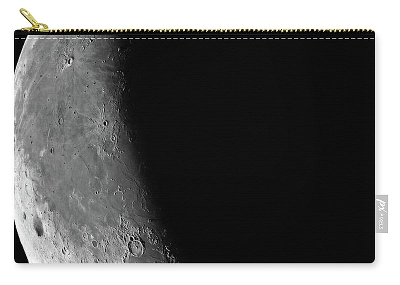 The Waning Moon Carry-all Pouch featuring the photograph The Waning Moon by New Digital Museum