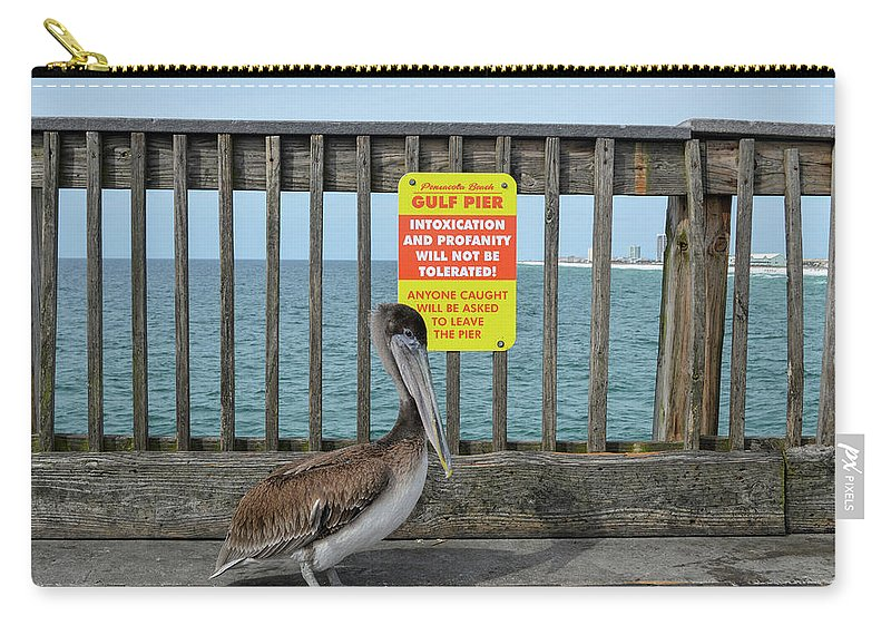 Seagull Carry-all Pouch featuring the photograph The Warden by Robert Anderson