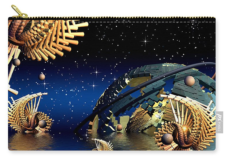 Phil Sadler Carry-all Pouch featuring the digital art The Wickers-... Out For A Midnight Swim... by Phil Sadler