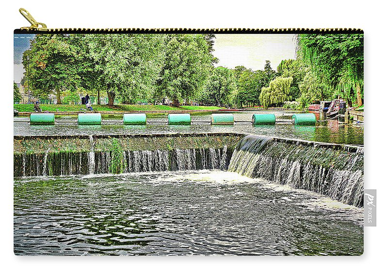 Cambridge Carry-all Pouch featuring the photograph The Wier by Simon Hill